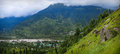 Kulu view of valley himachal pradesh india Royalty Free Stock Photography