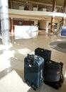 Kuluarowe hotel walizki Zdjęcia Stock