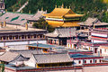 Kumbum Tibetan Buddhist temple Buddhist shrine Buddhist religious buildings Royalty Free Stock Photo
