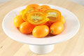 Kumquat pygmy orange sweet citrus fruits Royalty Free Stock Photos