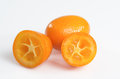 Kumquat for snack macro photography kumquats over white background Stock Photo