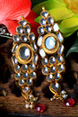 Kundan ear-rings Stock Photography