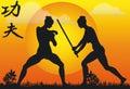 Kung Fu Illustration - Vector Royalty Free Stock Photo