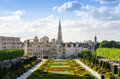 Kunstberg or Mont des Arts (Mount of the arts) gardens in Brusse Royalty Free Stock Photo