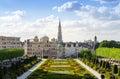 Kunstberg or mont des arts mount of the arts gardens in brusse brussels belgium Royalty Free Stock Image