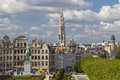 Kunstberg or mont des arts mount of the arts gardens in brussels as seen from elevated vantage point belgium Stock Photography