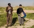 Kurdish men playing music Royalty Free Stock Photo