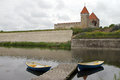 Kuressaare Castle in Saaremaa Royalty Free Stock Photo