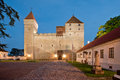 Kuressaare Fortress in a summer night Royalty Free Stock Photos