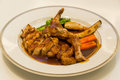 Kuro buta black pork pork chop steak on japanese cuisine dish it is a Stock Photography