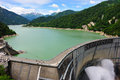 Kurobe dam highest in japan Stock Photo