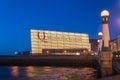 Kursaal Congress Centre by night Royalty Free Stock Photo