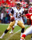 Kurt warner former st louis rams qb scanned from color slide Stock Photography