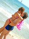 Kus op het strand Royalty-vrije Stock Fotografie