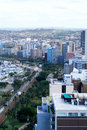 Kust- horisont för stad Royaltyfria Bilder