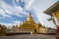Kuthodaw pagoda with the evening sunshine Royalty Free Stock Photography