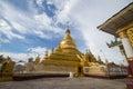 Kuthodaw pagoda with the evening sunshine Royalty Free Stock Photography