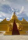 Kuthodaw pagoda with the evening sunshine Royalty Free Stock Photos