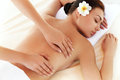 Kuuroordvrouw close up van een beautiful woman getting spa behandeling Stock Foto
