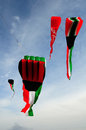 Kuwait flag kites a of flage Stock Photography