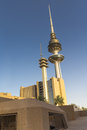 Kuwait liberation tower from a lower angle Stock Photo