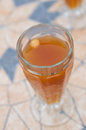 Kvass drink a glass of homemade top view Stock Photo