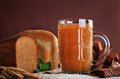 Kvass, traditional Slavic and Baltic fermented beverage Royalty Free Stock Photo