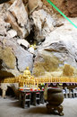 Kwan yin tong cave temple ipoh perak malaysia december golden buddha statues which is located in Stock Image