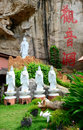 Kwan yin tong cave temple ipoh perak malaysia december statues which is located at Royalty Free Stock Images