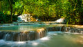 Kwang sri waterfall in luang phra bang laos Royalty Free Stock Photo