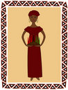 Kwanzaa woman Stock Photos