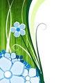 Kwiat tła green Zdjęcie Royalty Free