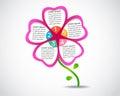 Kwiatu presentation nowożytnego projekta biznesowy szablon Zdjęcia Royalty Free