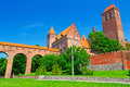 Kwidzyn castle and cathedral in poland Stock Photography