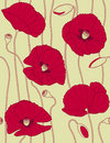 Kwiecistych deseniowych popies retro bezszwowy Obraz Royalty Free