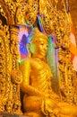 Kyaikhto, Myanmar - February 22, 2014: Kyaikpawlaw Buddha Image