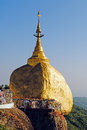 Kyaiktiya pagoda golden rock myanmar Royalty Free Stock Photo