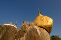Kyaiktiya pagoda golden rock myanmar Stock Photo