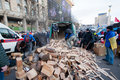 Kyiv ukraine people harvest wood for fires occupying main maidan square for anti government demonstration during the pro european Royalty Free Stock Image