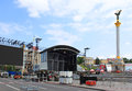 Kyiv, Ukraine, is preparing fan zone for EURO 2012 Stock Photo