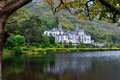 Kylemore Abbey in Connemara mountains, Ireland Royalty Free Stock Photo