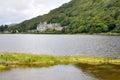 Kylemore abbey ireland connemara mountains Stock Photo