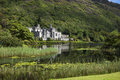 Kylemore abbey lateral view connemara ireland Royalty Free Stock Photo