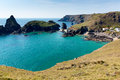 Kynance Cove Cornwall England UK The Lizard heritage coast with turquoise blue clear sea Royalty Free Stock Photo