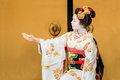 Kyomai dance performed by maiko in kyoto unidentified apprentice geisha performs which adopted the elegance and of the imperial Stock Photo