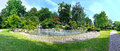 Kyoto garden traditional in holland park panorama Royalty Free Stock Photography