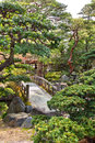 Kyoto imperial palace beautiful japanese garden in the japan Royalty Free Stock Images