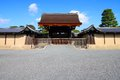 Kyoto imperial palace japan gate to area old landmark Stock Images