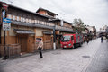 KYOTO, JAPAN - NOV 25: Japanese house in Gion district on Novemb Royalty Free Stock Photo