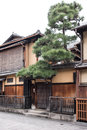 KYOTO, JAPAN - NOV 25: Japanese house in Gion district on November 25, 2015 in Kyoto, Japan. Royalty Free Stock Photo